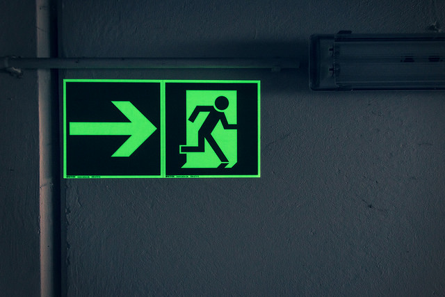 radioactive emergency exit