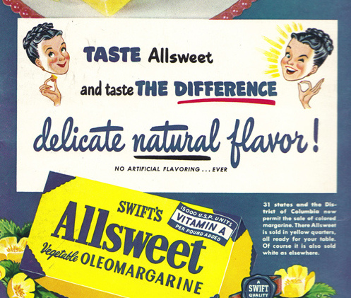 vintage ad natural flavour science terms