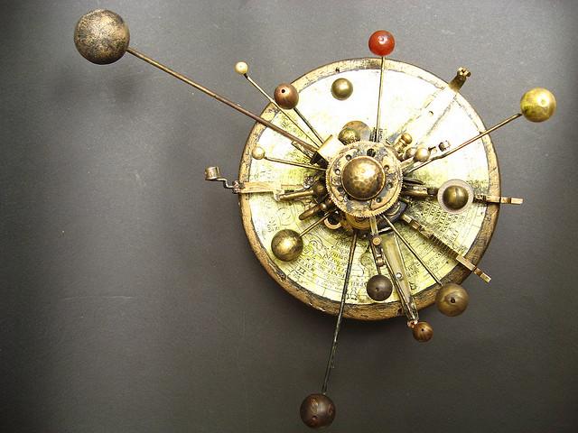 steampunk solar system model
