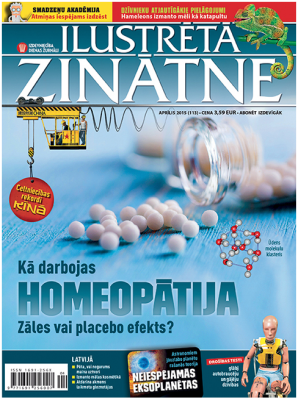 Cover of Science Illustrated Latvian edition, April 2015