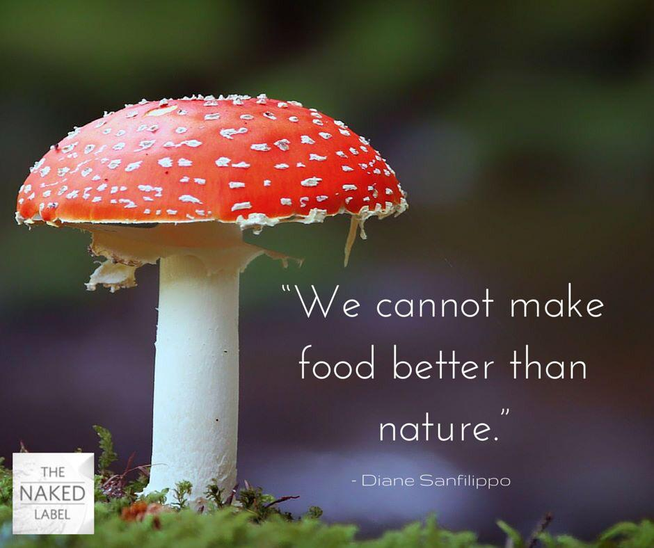 The Naked Label poisonous mushroom amanita as food we cannot make better than nature