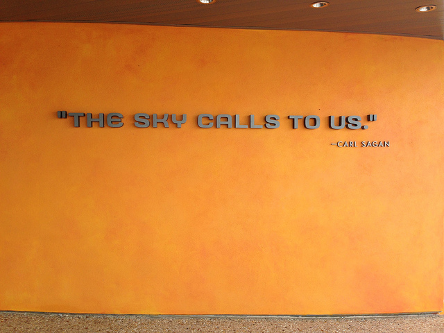 Carl Sagan the sky calls to us quote